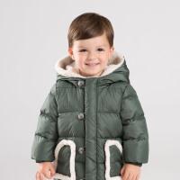 [2件3折价:198.9]davebella戴维贝拉童装冬季新款男童宝宝90绒保暖羽绒服DB11862