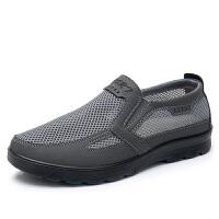 老北京布鞋夏季爸爸网鞋老人中年透气夏天休闲运动中老年男鞋