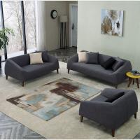 北欧布艺沙发组合日式客厅沙发转角 现代简约办公室商务沙发布艺时尚接待会客三人位沙发茶几组合