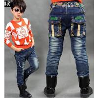 新款韩版时尚百搭休闲加绒加厚棉裤男童夹棉牛仔裤儿童长裤