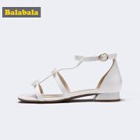 【满减参考价:79.67】巴拉巴拉女童凉鞋中大童鞋子2019新款夏季时尚罗马鞋甜美公主童鞋