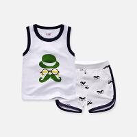 宝宝纯棉套装小童背心短裤两件套婴幼儿童装夏季