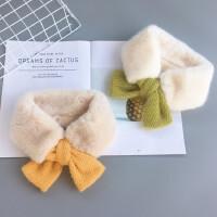 冬季宝宝儿童围巾加厚保暖围脖女童时尚装饰毛领柔软百搭婴儿围巾