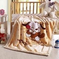 儿童毛毯双层加厚冬季珊瑚绒办公室午睡毯盖腿毯宝宝婴儿小毯子y 105cmX135cm 2斤