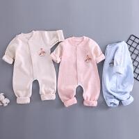 婴儿连体衣春装保暖外出新款男女宝宝薄款空调服幼儿
