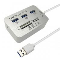 USB读卡器+usb3.0分线器二合一SD卡TF读卡器多功能USB扩展器