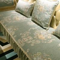 欧式沙发垫美式坐垫客厅四季防滑布艺中式实木套罩巾定做T