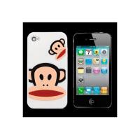 大嘴猴IPHONE4 4S手机保护壳 套 硅胶套 苹果4代 白色