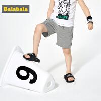 【3件4折价:47.6】巴拉巴拉童装儿童裤子男童夏装新款宝宝运动休闲短裤时尚百搭