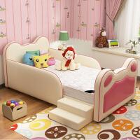 婴儿床拼接大床宝宝床多功能双胞胎婴儿床带护栏实木小床拼接大床