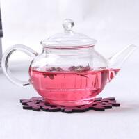 高硼硅耐热玻璃六人壶250ml花茶壶茶具泡茶壶 透明过滤加热泡茶壶过滤茶具大飘逸杯花茶玻璃