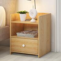 床头柜 简约现代圆角封边加宽大抽屉小柜子储收纳柜办组装简易卧室边柜储物柜