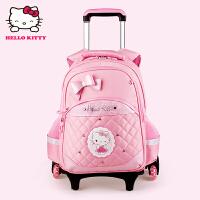 Hello Kitty凯蒂猫 KT1068粉红女小学生三轮爬楼梯拉杆书包 当当自营