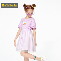 巴拉巴拉童装女童连衣裙儿童公主裙夏装中大童新款网纱裙子女