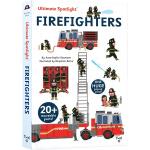 英文原版 Ultimate Spotlight: Firefighters 消防队员 精装立体翻翻书 Twirl 儿童