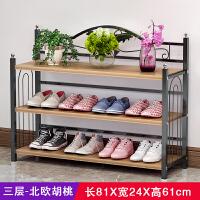 索尔诺 简易鞋架多层组装经济型家用鞋柜多功能特价防尘门后鞋架子省空间xj9833