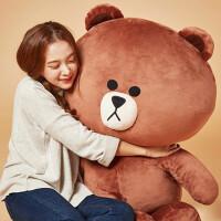 布朗熊公仔毛绒玩具熊玩偶抱枕大号娃娃女生生日礼物情人节送女友
