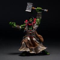 魔兽世界WOW 兽人部落霜狼酋长萨满萨尔手办公仔人偶模型玩偶摆件