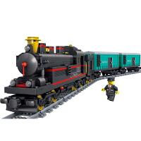 和谐号天际列车电动道拼装火车积木兼容乐高儿童益智玩具男孩礼品
