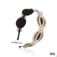 纯手工刺绣 镶钻珍珠发卡 饰品 高雅气质型