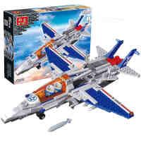 【小颗粒】邦宝儿童拼插积木益智军事男孩玩具飞机隐形战机8256