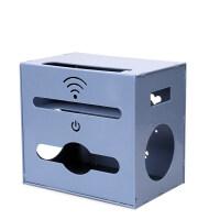 路由器收纳盒 电线收纳盒wifi插座插排插线板收纳盒整理线盒理线器 北欧蓝
