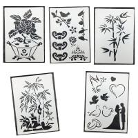 儿童绘画手抄报模板 DIY相册手工成长相册 卡通图案工具小花边尺 10张不同图案