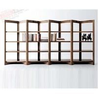 隔断书架置物架实木屏风落地展示书柜现代层架 落地展示架简约层架 八门 四层 350*45*180