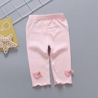女童短裤女宝宝夏季裤子薄款0婴幼儿小童七分打底裤1-3岁童装