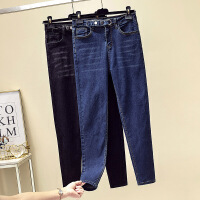 2020春季新款女显瘦气质牛仔裤腰部可调解修身牛仔裤