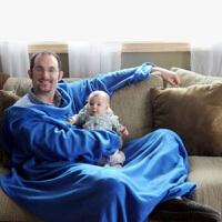 有袖子的毛毯 创意袖毯/电视毯 空调毯 膝毯