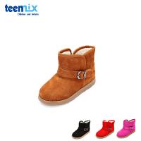 【99元任选2双】天美意teenmix童鞋18新款儿童雪地鞋休闲靴子女童时尚保暖鞋子(5-10岁可选)DX0249