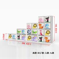 简约玩具收纳柜儿童书柜绘本架书架幼儿园储物柜格子柜子自由组合 0.6米以下宽