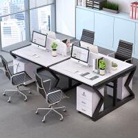 办公家具职员办公桌椅组合屏风工作位 职员办公桌四人位电脑桌椅组合办公家具2/4/6人位屏风工作位