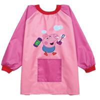 儿童围裙画画衣防水罩衣男女童反穿衣宝宝反穿衣薄款
