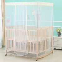 三胞胎双胞胎婴儿床折叠拼接大床实木bb双人新生儿童床摇篮床无漆