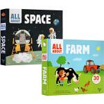 英文原版 Twirl All About Farm/Space/Cars 3册 精装翻翻操作书 幼儿SETAM科普启蒙