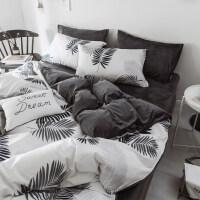 床单四件套被套男珊瑚绒被单被罩三件套学生宿舍单人加绒床上用品k 学生宿舍三件套 被套150*200cm 床单180
