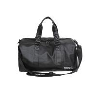 短途旅行包男手提旅行袋行李包独立鞋位训练包运动健身包 黑色 +干湿分离收纳袋