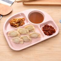 小麦秸秆餐盘儿童餐具分格辅食益智训练零食沙拉米饭碗面条碗