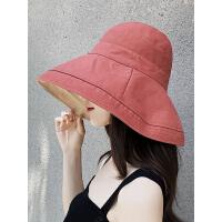 帽子女韩版潮百搭出游遮阳帽防晒紫外线大沿遮脸日系