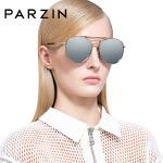 帕森 偏光太阳镜女 金属大框炫彩膜潮墨镜圆框司机驾驶镜 新品9731