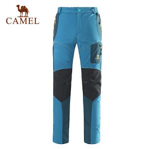 camel骆驼户外女款软壳裤 秋冬新款保暖女款长裤