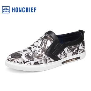 红蜻蜓旗下品牌  HONCHIEF男鞋休闲鞋秋冬鞋子男板鞋KTA7128