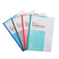 晨光记事本B5无线装订本80页商务必备笔记本(1本)颜色随机发