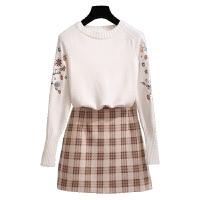 新年特惠2019秋冬新款女冬裙两件套装连衣裙女神范套装裙晚秋气质洋气