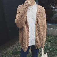 【秋冬新品】高端专柜品牌2019新款韩版潮流外套男士v领长袖毛衣外穿针织开衫个性宽松上衣