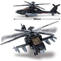 兼容乐高积木拼装军事飞机拼插战斗机阿帕奇直升机男孩玩具运输机 黑鹰直升机(439片)+ 拆件器