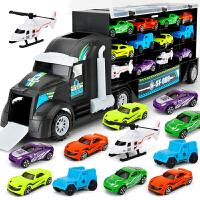 仿真合金小汽车玩具赛车模型儿童男孩手提收纳