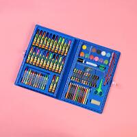 儿童绘画水彩笔套装小学生幼儿园用画画工具美术用品礼盒文具批发 浅蓝色 86豪华套装随机